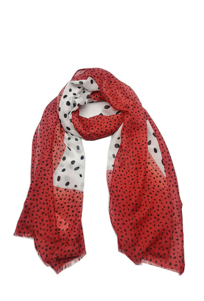 Twister summer scarf - Red