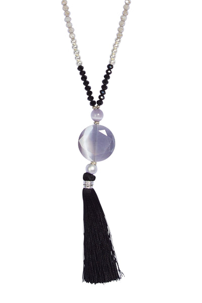 Bohemian tassel lolly chain - Black