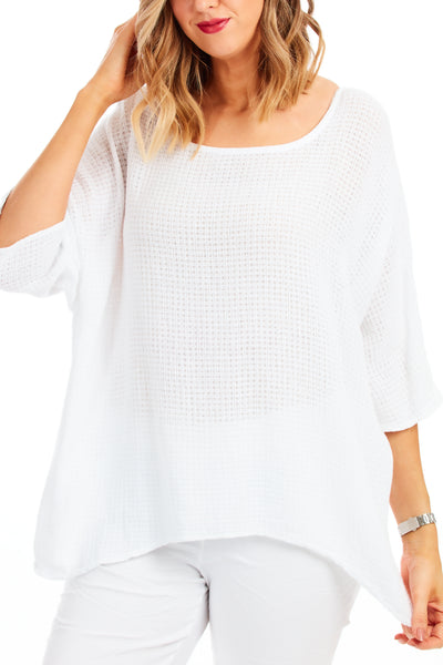 Carol beach knit - White