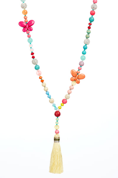Butterfly tassel chain - Multi