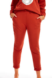 Pippa lounge joggers - Rust Orange