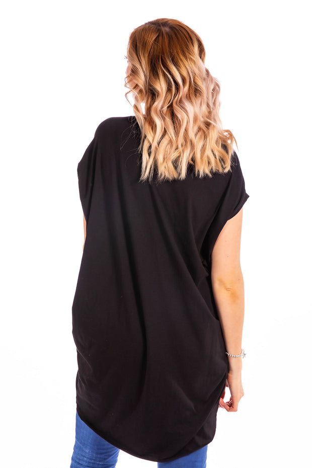 Laid Back Tunic Tee - Black