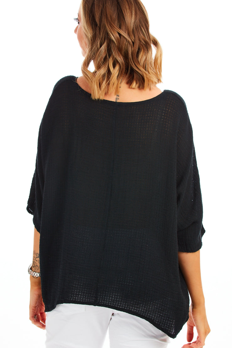 Carol beach knit - Black