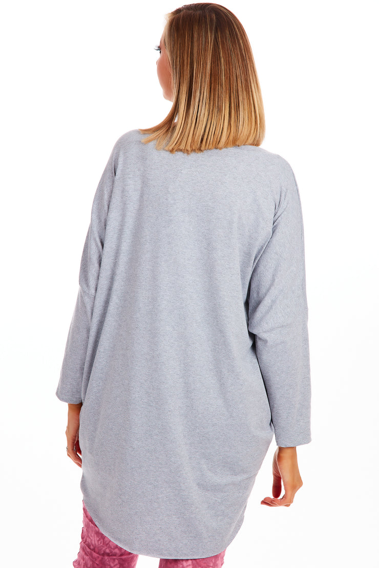 Frieda heart tunic - Grey