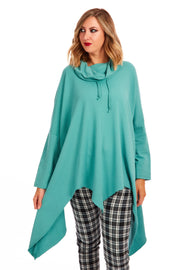 Karina cowl neck jumper - Teal