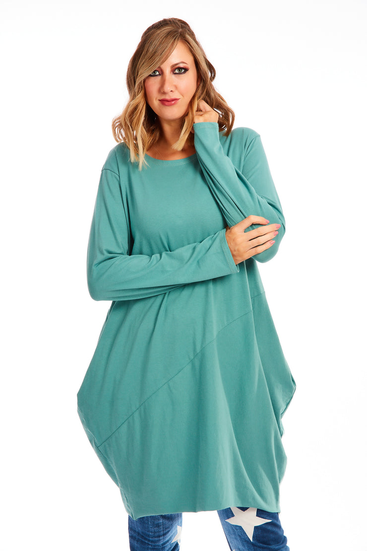 Midnight hour tunic dress - Teal
