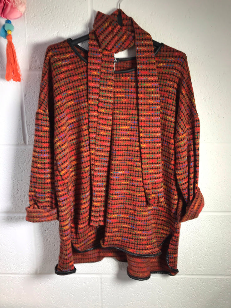 Rainy days rainbow jumper - Petite fit - Autumn rust