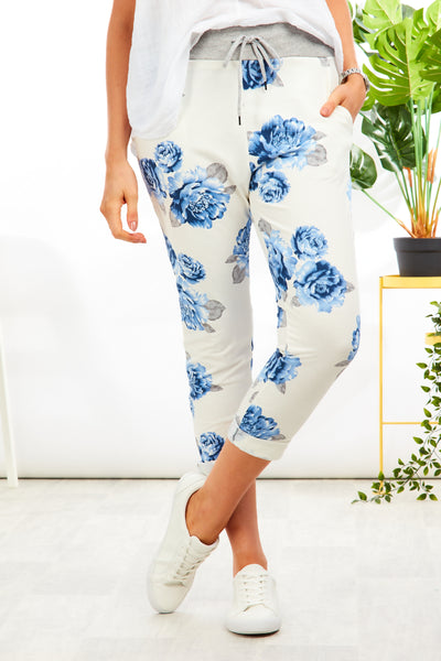 Alice joggers - Betty Blue Floral