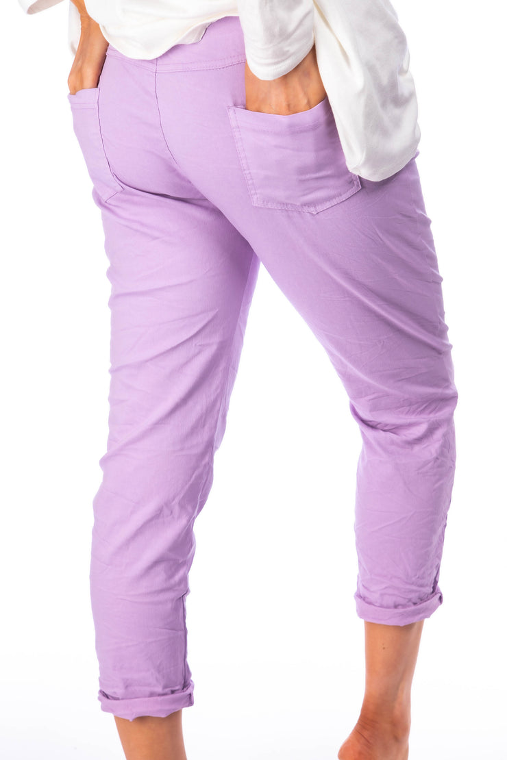 The Crinkle smart joggers - Lilac