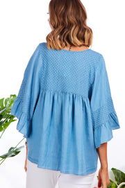 Serenity denim top - Light wash