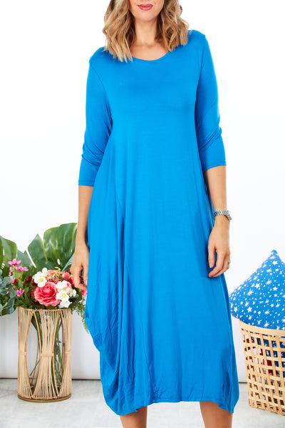 Cambridge loose fit 2 way dress - Cobalt Blue