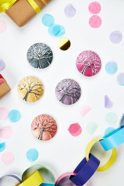 Magnet tree of life brooch - Various colours