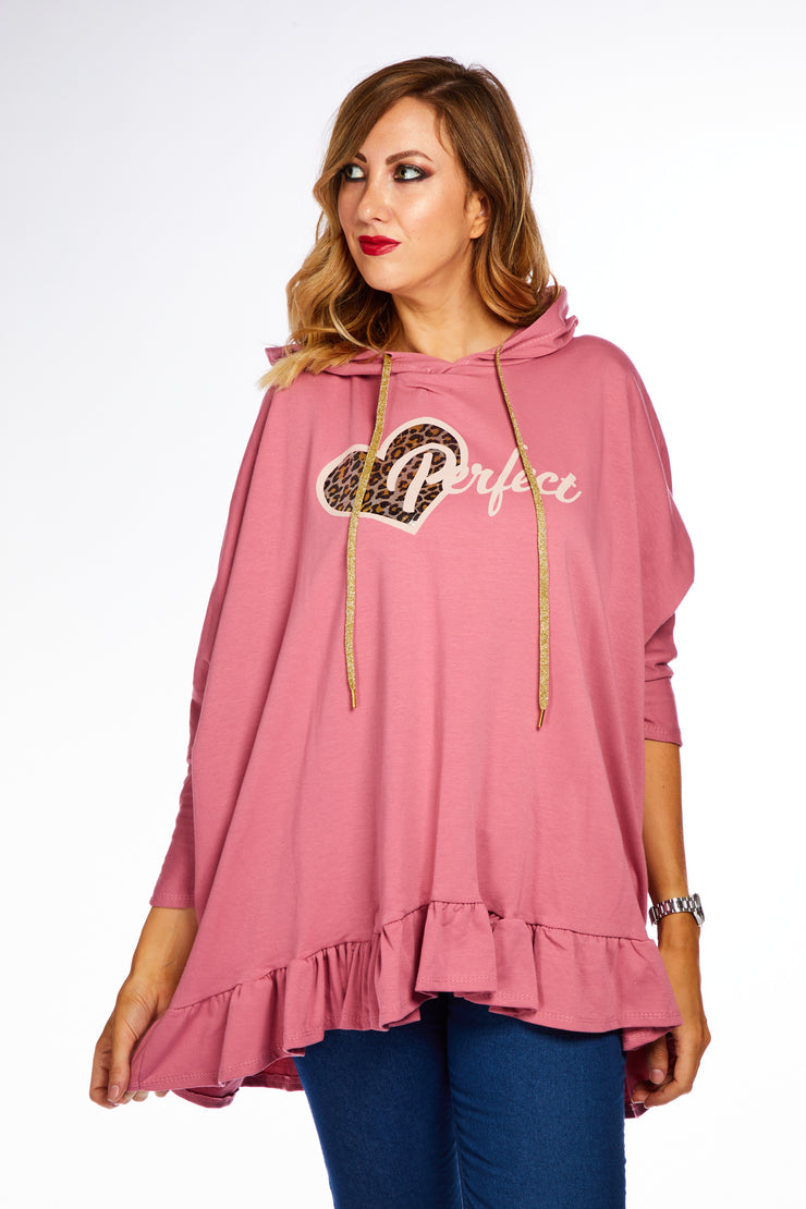 Heart of gold oversized hoodie - Pink