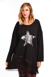 Plus fit star sweater