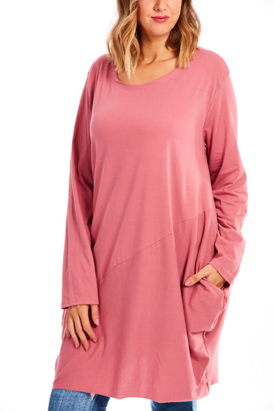 Midnight hour tunic dress - Rose Pink