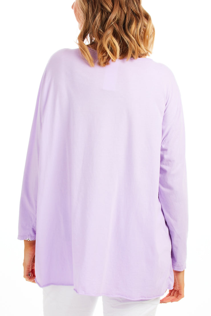 Lexi loose fit top - Lilac