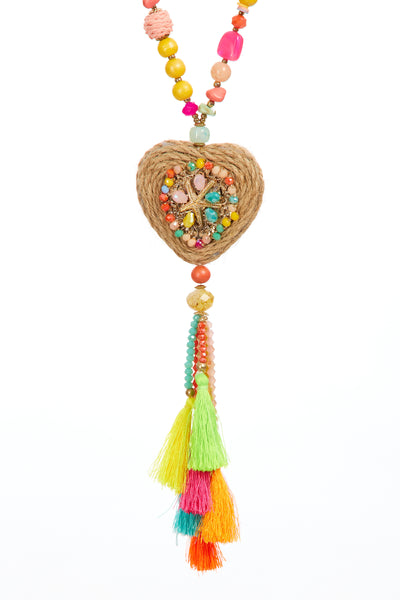 Beach hut tassel chain  - Multi