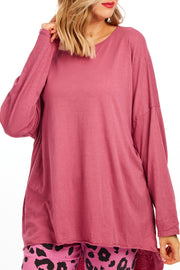 Patsy plain tunic top - Vintage Rose