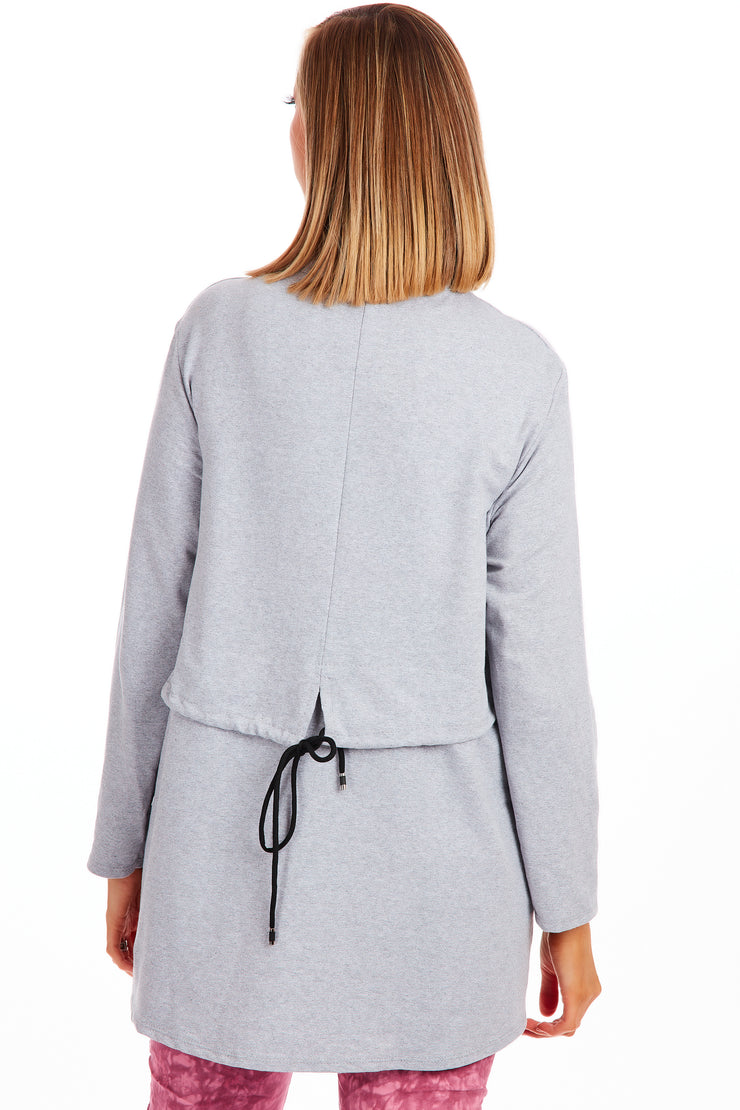 Zipstar funnel neck sweater - Grey