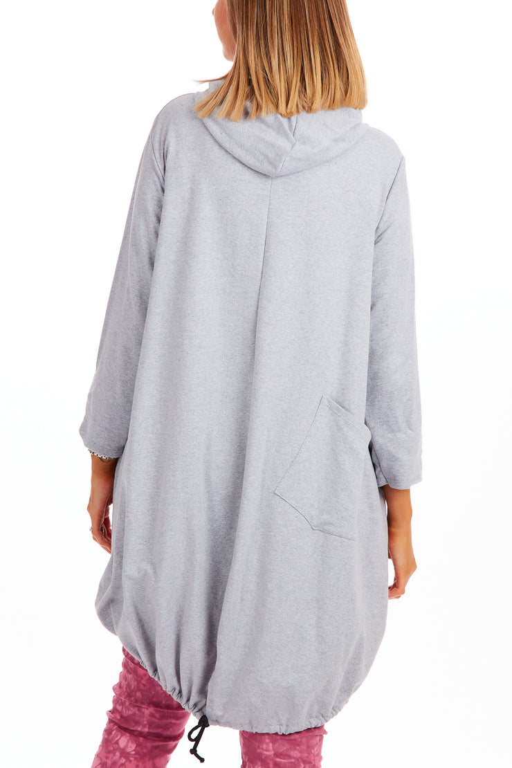 Madison tunic hoodie - Light Grey