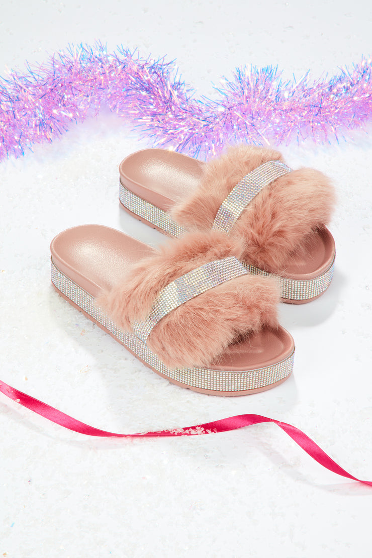 Fairy dust slipper shoe  - Muted Rose