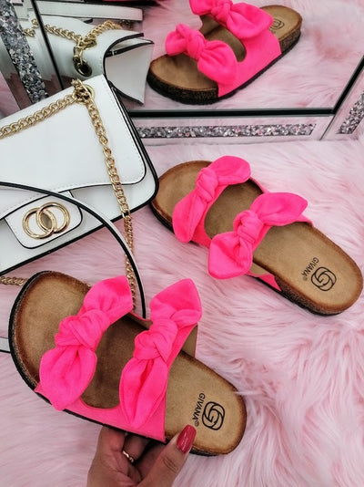 June slide on sandals - Pink