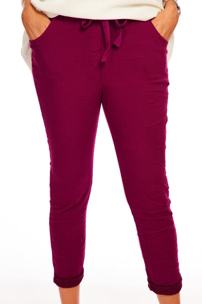 Magical stretch trousers - Autumn Berry