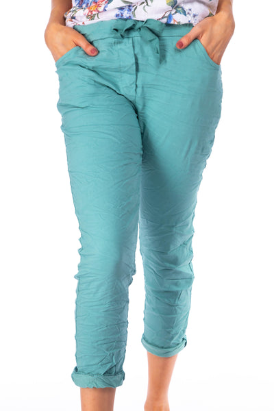 The Crinkle smart joggers - Turquoise