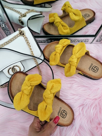 June slide on sandals - Yellow