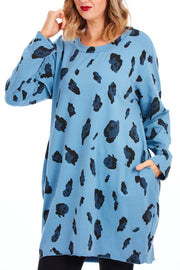 Bradshaw animal print tunic dress - Blue