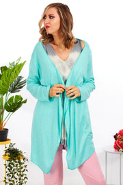 Essential waterfall cardigan - Aqua