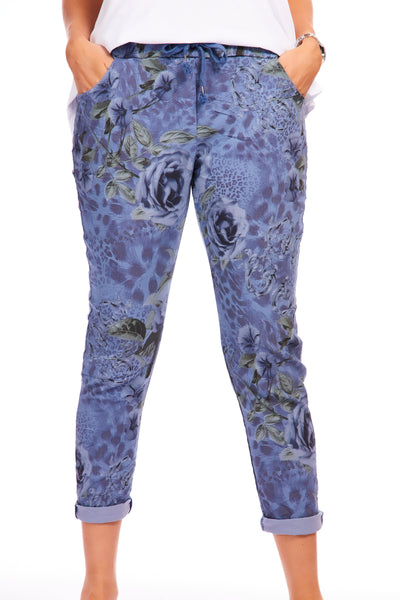 Magical stretch trousers - Aspen Blue