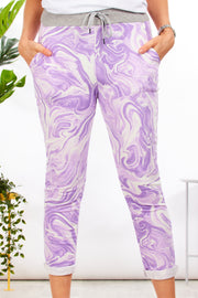 Alice joggers - Marble print