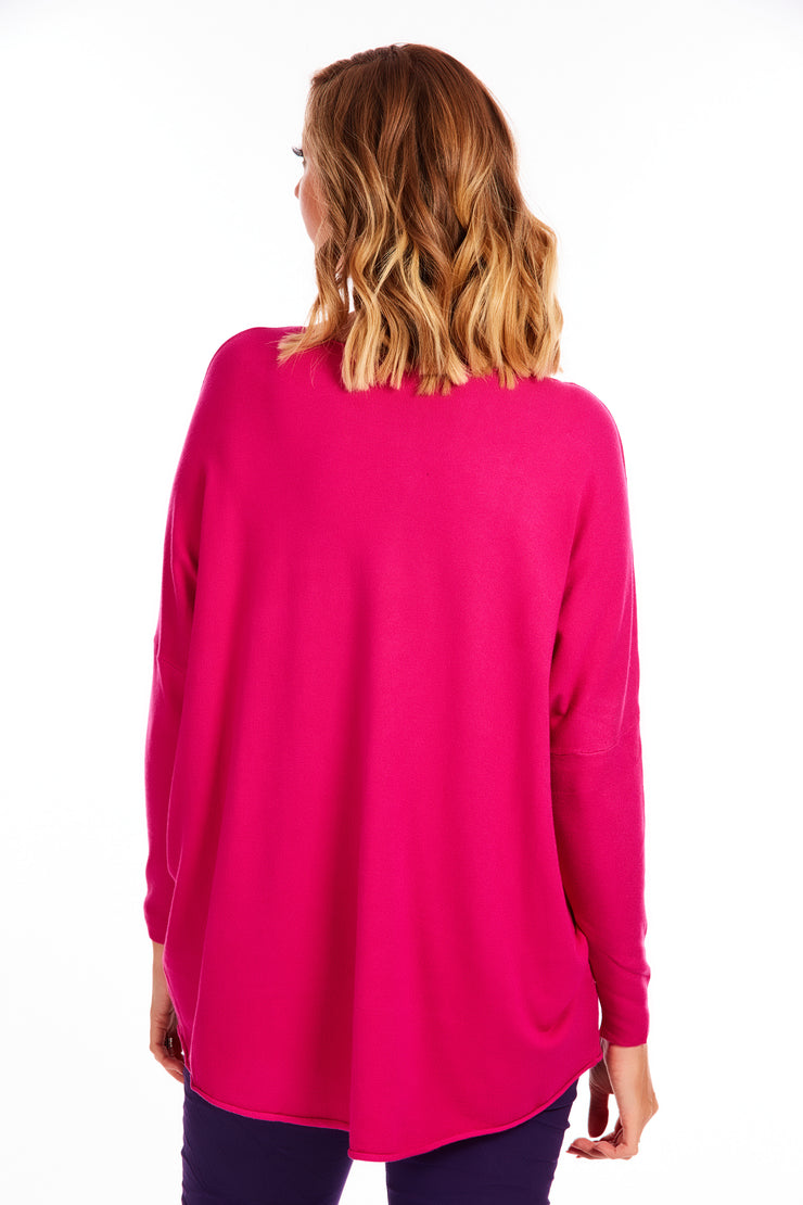 London luxe super soft knit - Magenta