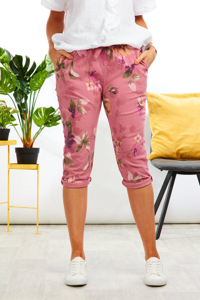 Magical stretch crops  - Garden print - Pink