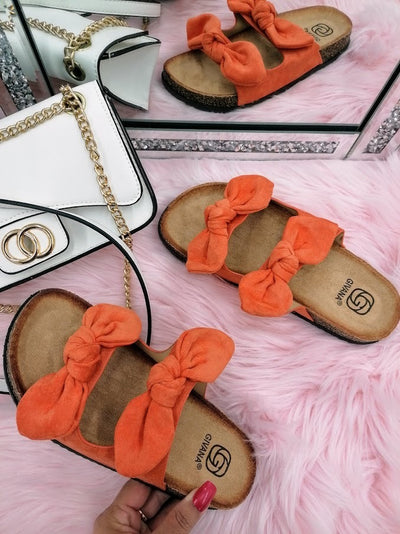 June slide on sandals - Orange