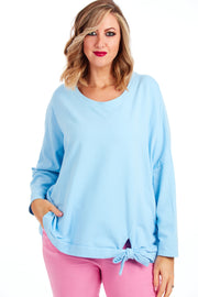 Captivate loose fit sweater - Baby Blue