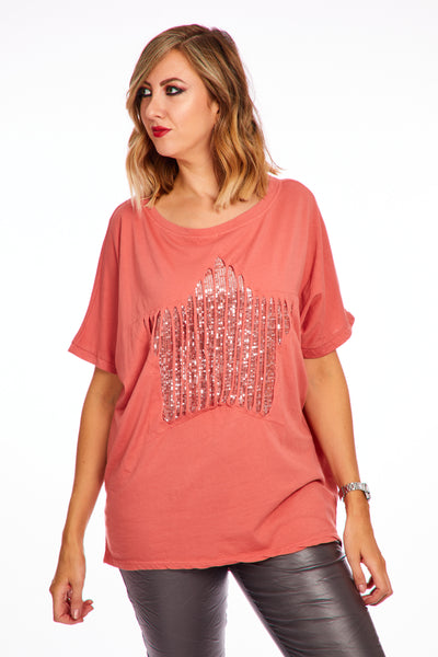 Webbed star top - Terracotta