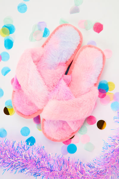 Fluffy slippers - Candyfloss Pink