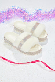 Fairy dust slipper shoe  - Snow