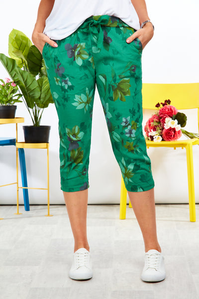 Magical stretch crops  - Garden print - Forest Green