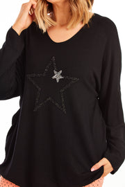 Patterson star knit - Black