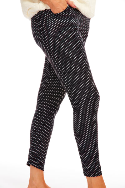 Paddington leggings - BLACK POLKA DOT