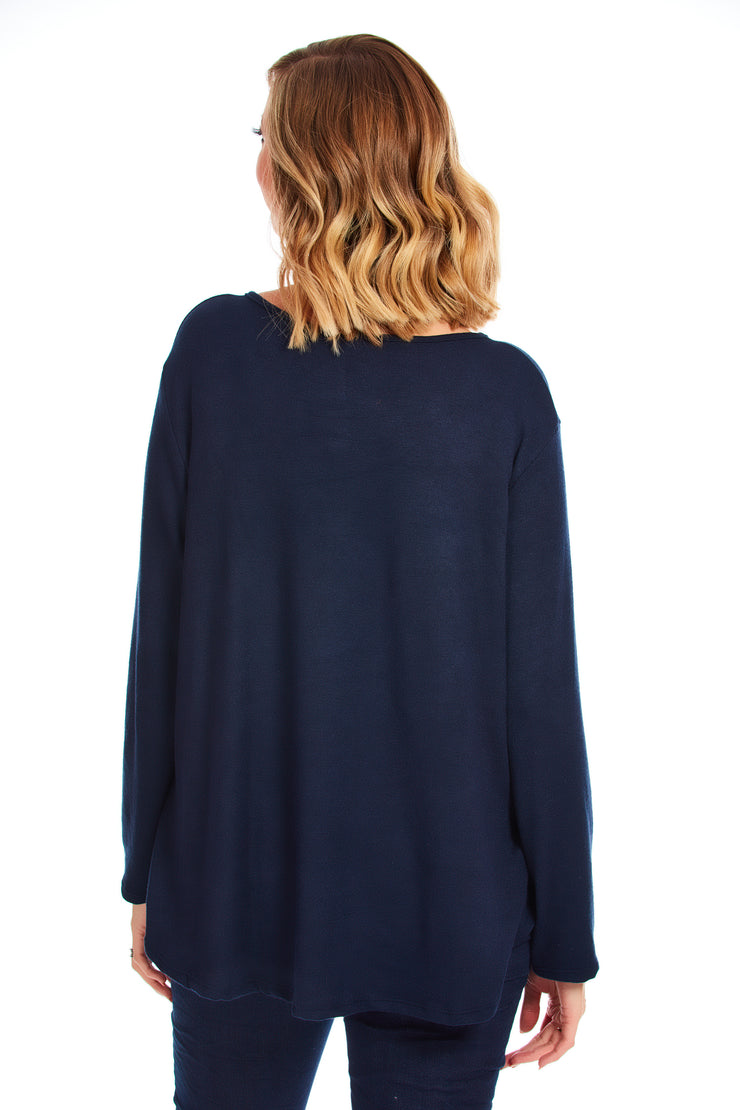 Dorothy butterfly knit - Navy
