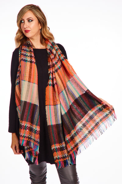 Jules scarf - Autumnal Orange
