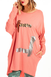 Zoe plus fit tunic - Peach