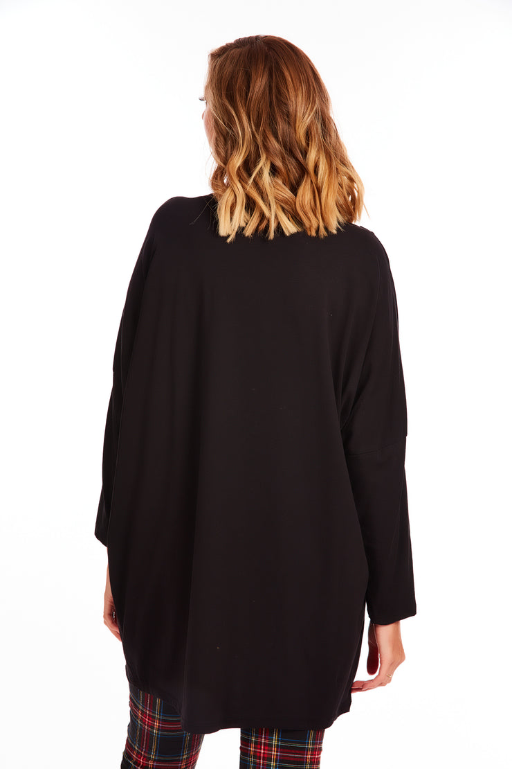 Zara tunic tee - Plus fit - Black