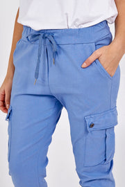 Cargo magical stretch pants - Blue