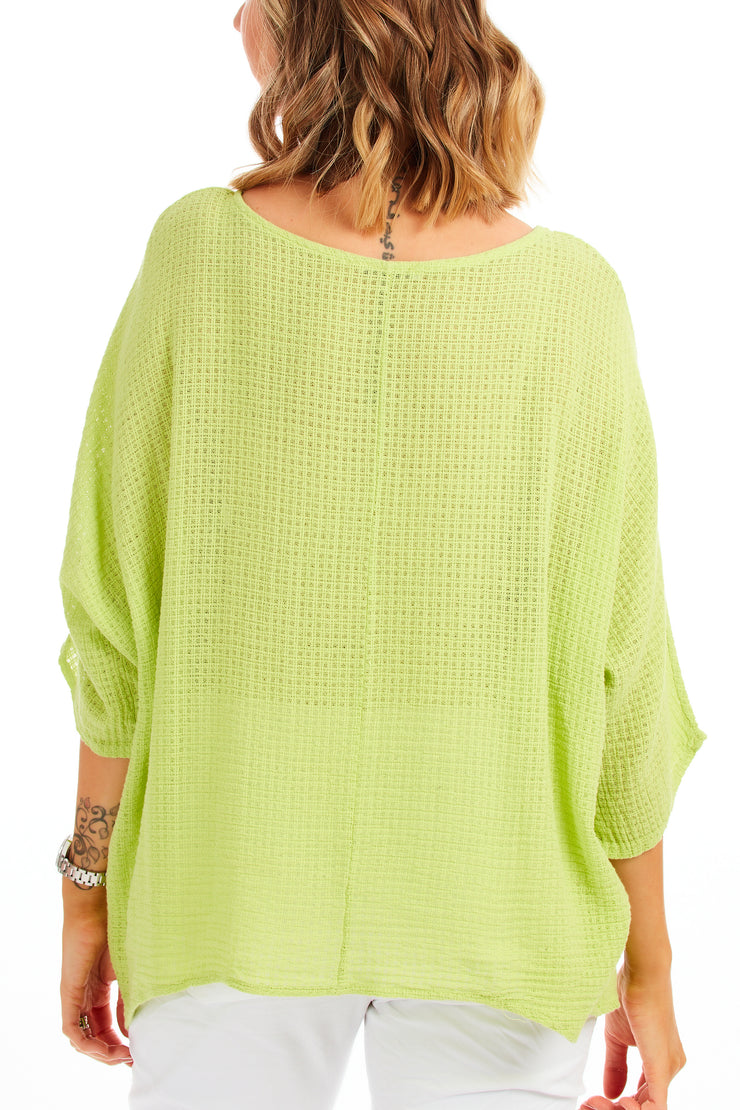 Carol beach knit - Lime Green