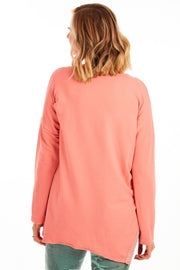 Portrait relaxed fit sweater - Peach